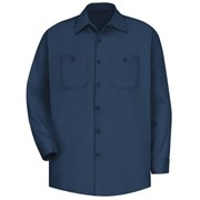 Wrinkle-Resistant Cotton Long Sleeve Work Shirt