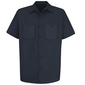 Wrinkle-Resistant Cotton Short Sleeve Work Shirt
