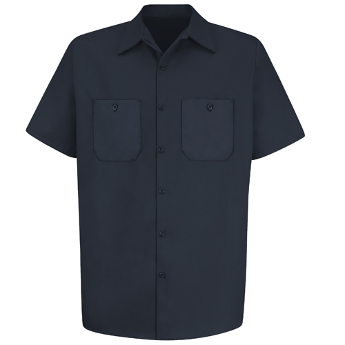 Wrinkle Resistant Cotton Short Sleeve Work Shirt
