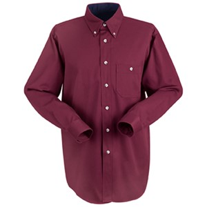 Cotton Contrast Long Sleeve Dress Shirt
