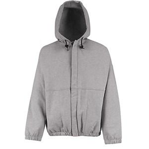 Hooded Sweatshirt with Zipper in Excel FR Fleece in Gray