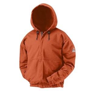 Hooded Sweatshirt with Zipper in Excel FR Fleece in Orange