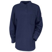 Womens Flame Resistant Long Sleeve Henley Shirt