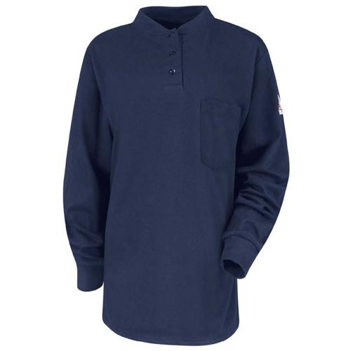 Bulwark 39 S Womens Flame Resistant Long Sleeve Henley Shirt
