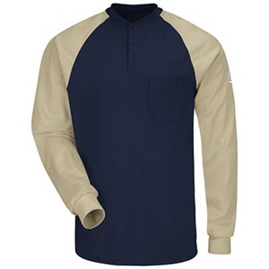 Color Blocked FR Henley Shirt