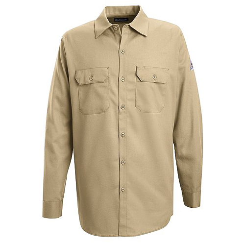 FR Button-Front Work Shirt in Excel FR Cotton