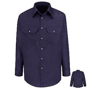 Heathered Poplin Long Sleeve Uniform Shirt