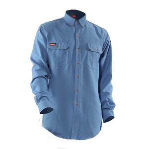 TECGEN FR Premium Vented Shirt in Medium Blue
