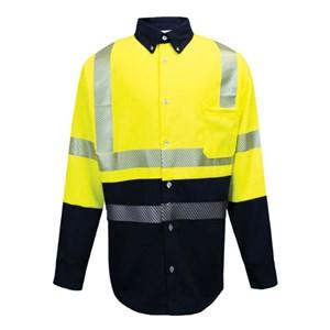 FR Hybrid Hi-Vis Lightweight Work Shirt - LG ONLY