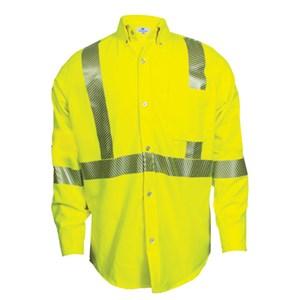 Hi-Vis FR Long Sleeve Button Down Work Shirt