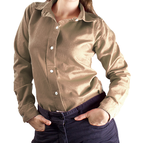 National safety apparel women 39 s ultrasoft flame resistant for Flame resistant work shirts