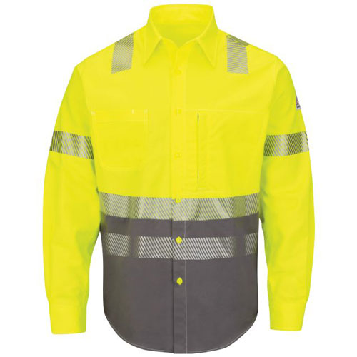 Hi-Vis FR Color Block Work Shirt Class 3