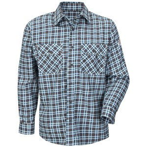 Excel FR ComforTouch Plaid Uniform Shirt