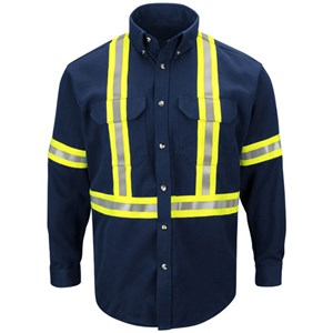 Dress Uniform Shirt with Reflective Trim