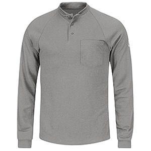 Bulwark Long Sleeve Henley Shirt in Modacrylic