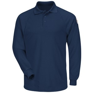 Bulwark Long Sleeve Polo in Modacrylic