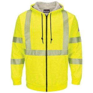 Hi-Vis Hooded Fleece FR Sweatshirt with Waffle Lining