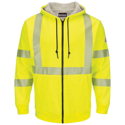 Hi-Vis Hooded Fleece FR Sweatshirt with Waffle Lining