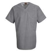 Check V-Neck Chef Shirt