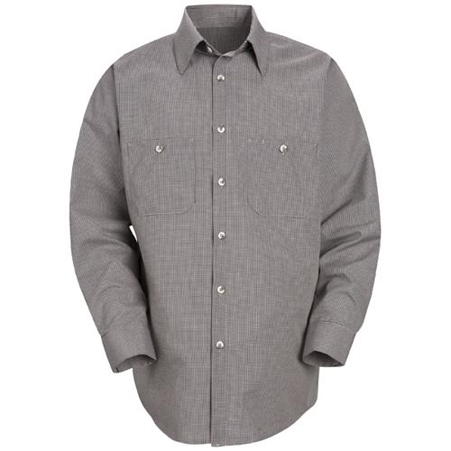Long Sleeve Poplin Stripe Work Shirt