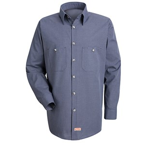 Long Sleeve Poplin Stripe Work Shirt
