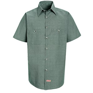Microcheck Uniform Short Sleeve Shirt
