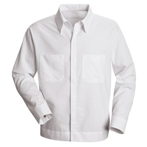 Men's Poplin Button-Front Shirt Jacket