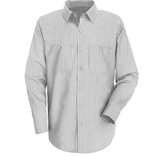 Striped Dress Long Sleeve Uniform Shirt