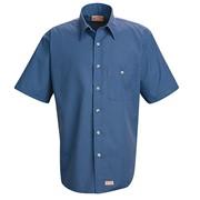 Mini-Plaid Uniform Short Sleeve Shirt