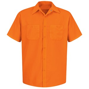 Short Sleeve Enhanced Visibility Work Shirt in Orange