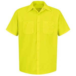 Short Sleeve Enhanced Visibility Work Shirt in Yellow