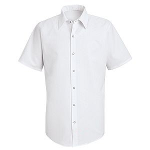 Specialized Pocketless Short Sleeve Polyester Work Shirt