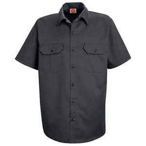 Utility Short Sleeve Uniform Shirt in Charcoal