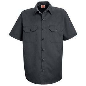 Utility Short Sleeve Uniform Shirt in Charcoal