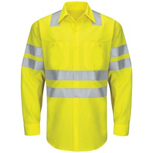 Hi-Vis Long Sleeve Class 3 Work Shirt