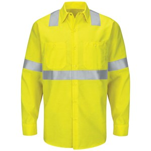 Hi-Vis Long Sleeve Ripstop Work Shirt