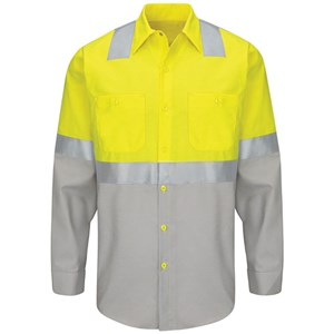 Hi-Vis Long Sleeve Color Block Class 2 Work Shirt