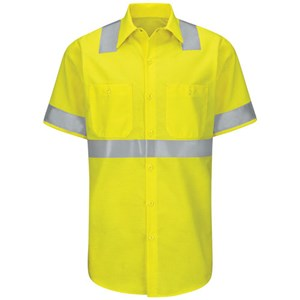 Hi-Vis Short Sleeve Ripstop Work Shirt