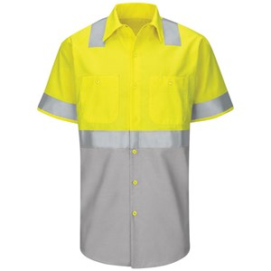 Hi-Vis Short Sleeve Color Block Class 2 Work Shirt