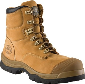 6 Inch Wheat Leather, Lace-Up, Steel-Toe Work Boot