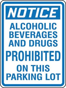 Sign 24x18 ALCOHOL PROHIBITED