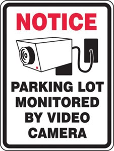 Sign 24x18 LOT MONITORED