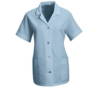 Women's Loose Smock with Short Sleeves in Light Blue