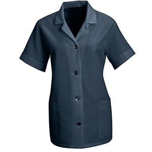 Women's Loose Smock with Short Sleeves in Navy