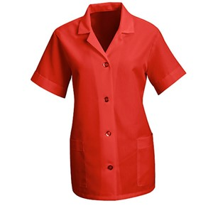 Women's Loose Smock with Short Sleeves in Red