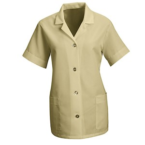 Women's Loose Smock with Short Sleeves in Tan
