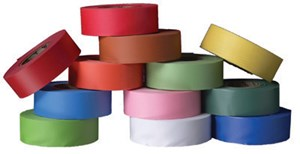 "Ultra Glo Flag Tape 1-/36""x100yds Pink"