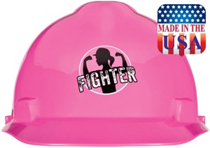 V-Gard Fighter Cap Style Hard Hat Pink