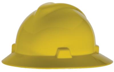 V-Gard Full Brim Hard Hat Yellow