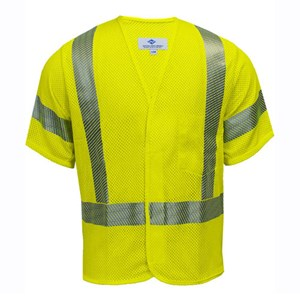 Hi-Vis Flame Resistant Mesh Safety Vest, Class 3, Velcro Closure
